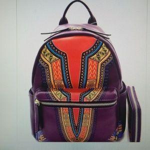 Ethnic Print Backpack set